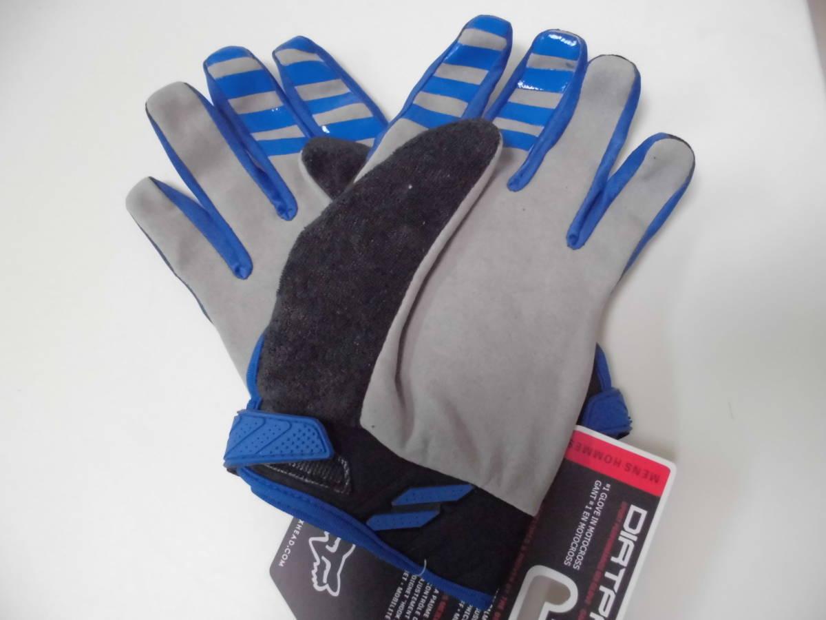 送料無料/即日発送 FOX 青 XL ダートパウ XLサイズ フォックス バイク グローブ ブルー バイクグローブ 手袋 プロテクター サイクリング_画像3