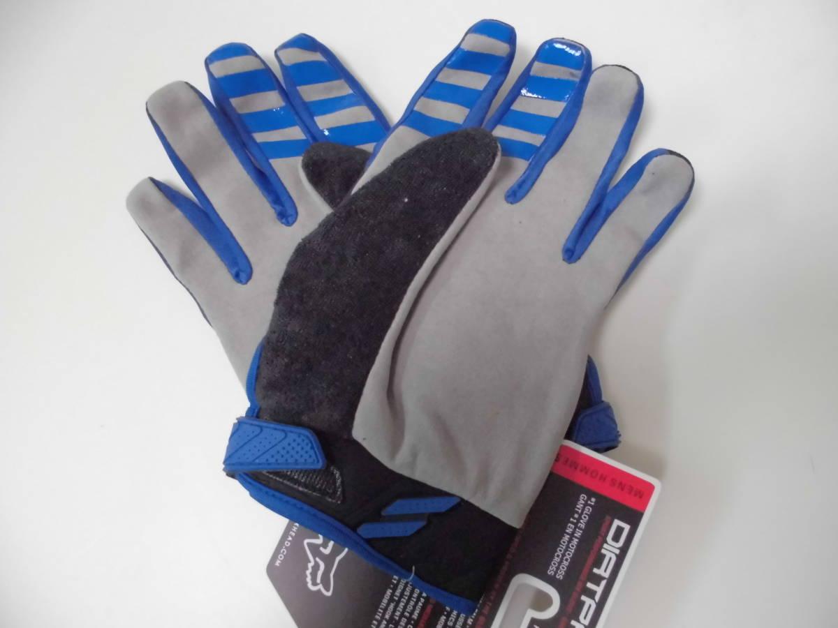 送料無料/即日発送 FOX 青 XL ダートパウ XLサイズ フォックス バイク グローブ ブルー バイクグローブ 手袋 プロテクター サイクリング_画像5
