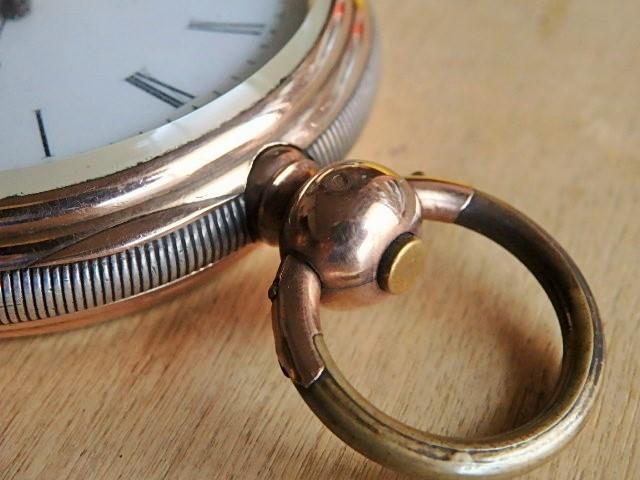鍵巻き懐中時計 鍵付きです コンデション良いです_画像8