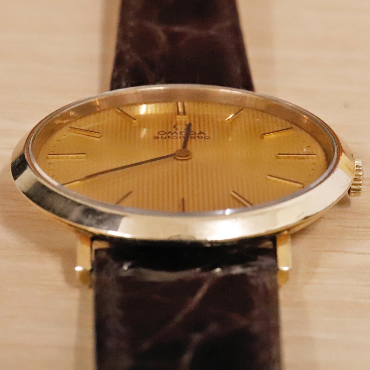 本物 オメガ 自動巻 オートマチック メンズウォッチ ゴールドケース 機械式腕時計 スイス製 正規品 OMEGA_画像2