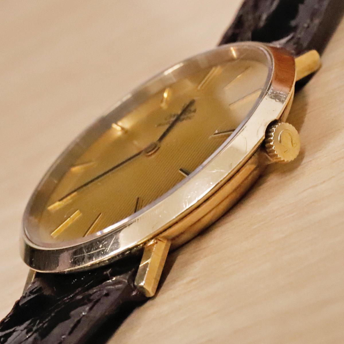 本物 オメガ 自動巻 オートマチック メンズウォッチ ゴールドケース 機械式腕時計 スイス製 正規品 OMEGA_画像3