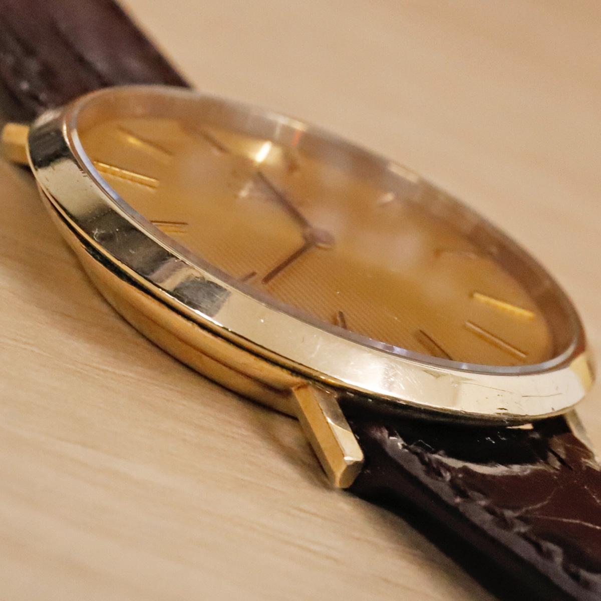 本物 オメガ 自動巻 オートマチック メンズウォッチ ゴールドケース 機械式腕時計 スイス製 正規品 OMEGA_画像4