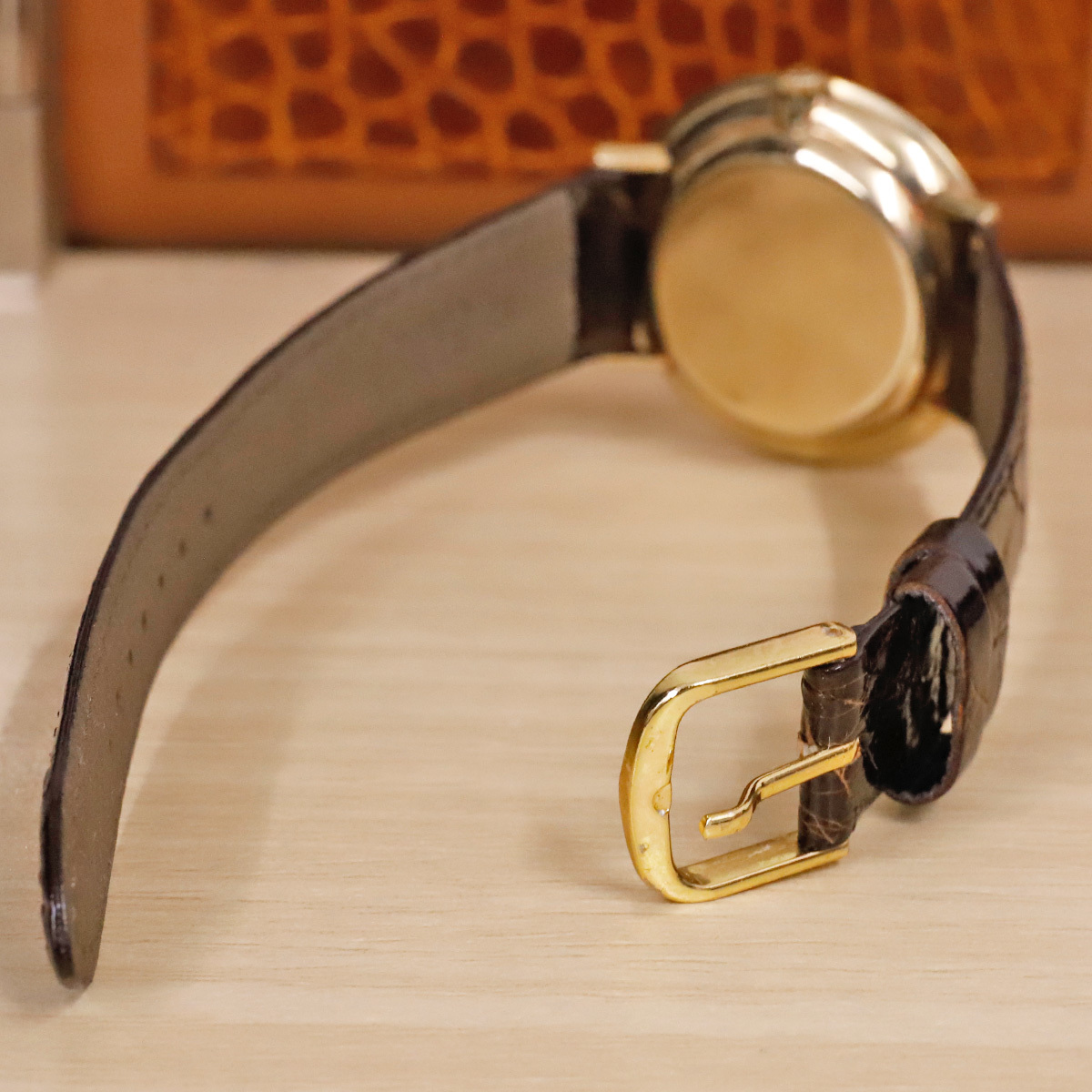 本物 オメガ 自動巻 オートマチック メンズウォッチ ゴールドケース 機械式腕時計 スイス製 正規品 OMEGA_画像6