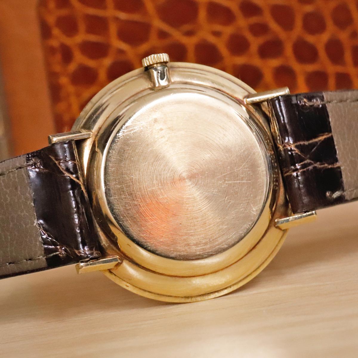 本物 オメガ 自動巻 オートマチック メンズウォッチ ゴールドケース 機械式腕時計 スイス製 正規品 OMEGA_画像7