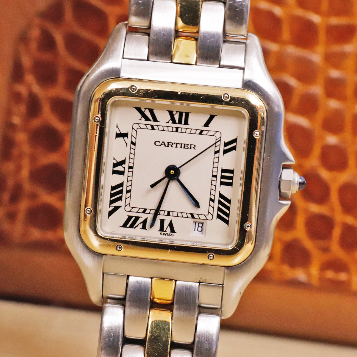 competitive price 68452 5f6e3 本物 カルティエ K18ゴールドコンビ パンテール ドゥ カルティエ ウォッチ 純正1ロウSSブレスレット 腕時計 スイス製 正規品 CARTIER