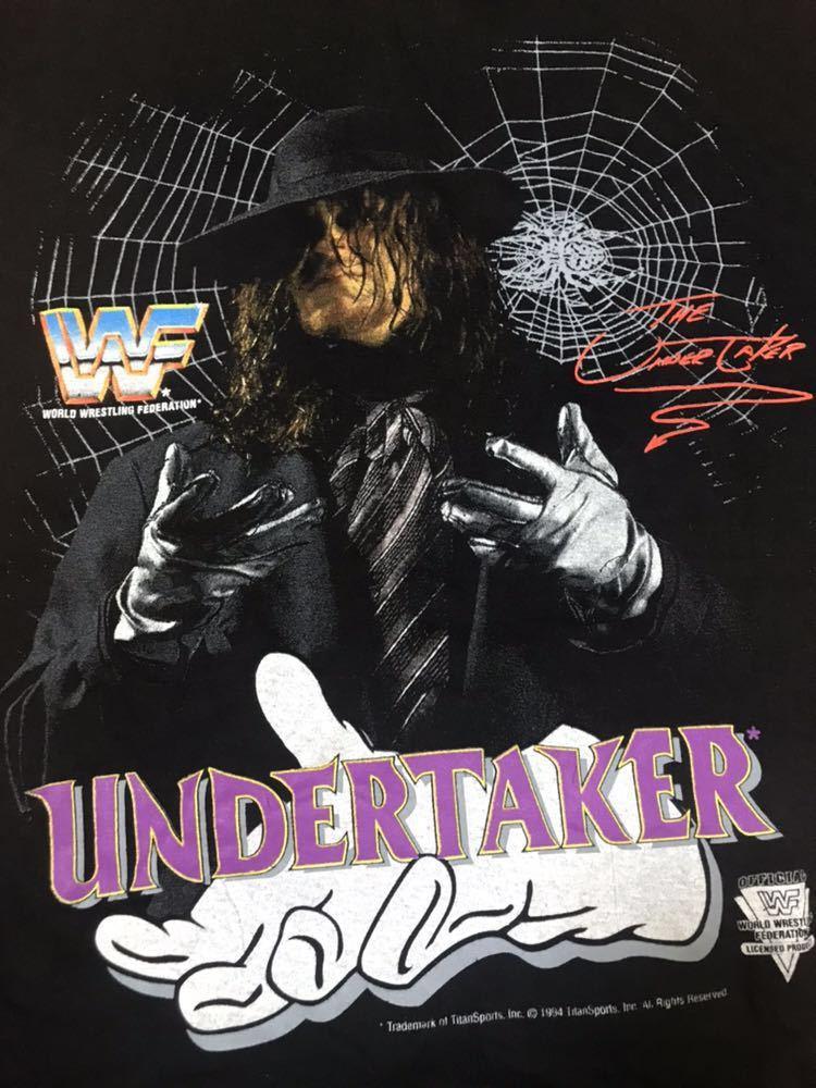 レア 90s THE UNDERTAKER アンダーテイカー WWF ビンテージ Tシャツ XL 1994 プロレス vintage / WWE WCW 新日本プロレス_画像3