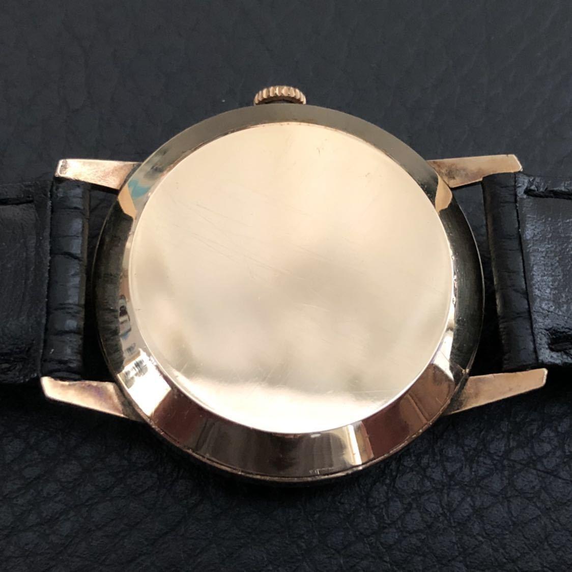 美品 超希少な隠れS文字盤 OH済 SEIKO インジケーター 11A(国産自動巻腕時計第1号) 21石 14KGF側J14003 オリジナル文字盤_画像7