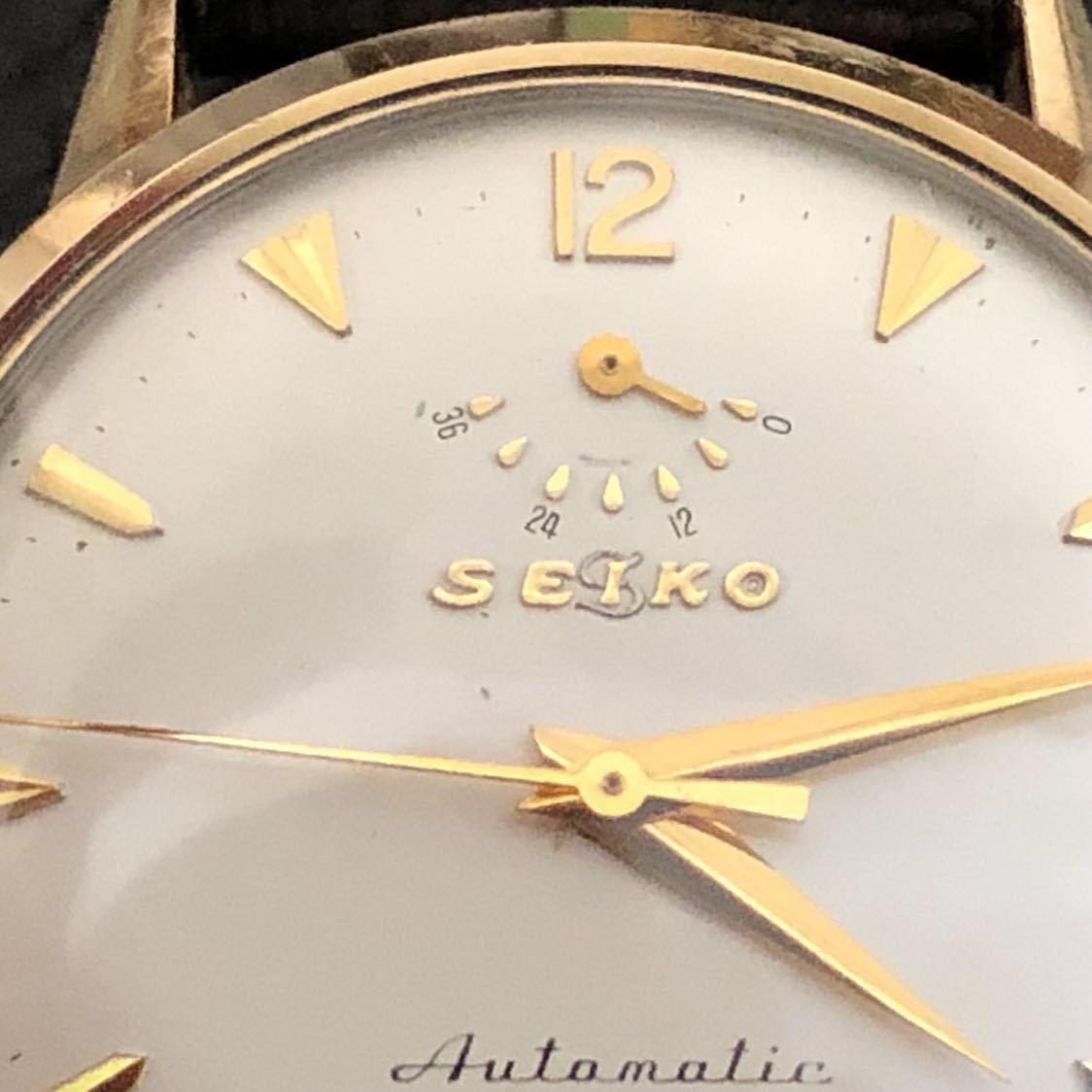 美品 超希少な隠れS文字盤 OH済 SEIKO インジケーター 11A(国産自動巻腕時計第1号) 21石 14KGF側J14003 オリジナル文字盤_画像6