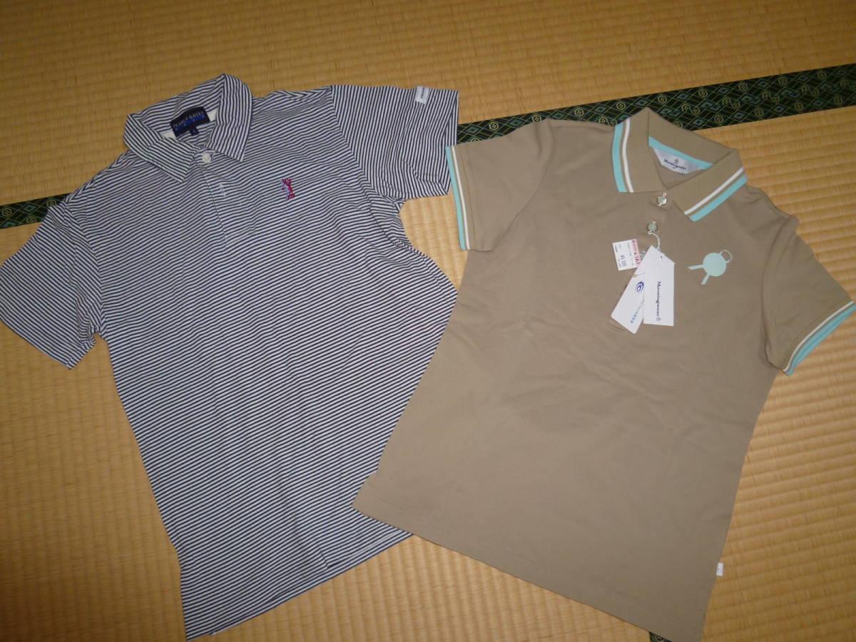 パーリーゲイツ■ポロシャツ & マンシングウェア 新品ポロシャツ 2枚セット レディース Mサイズ ゴルフウェア