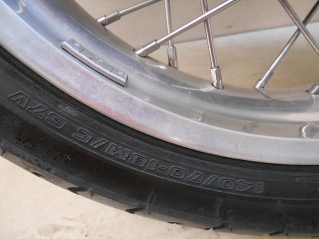 【1600802013】リア ホイール アルミワイドリム カスタムホイール BT45R カワサキ Z1 Z2 KAWASAKI バイク パーツ_画像3