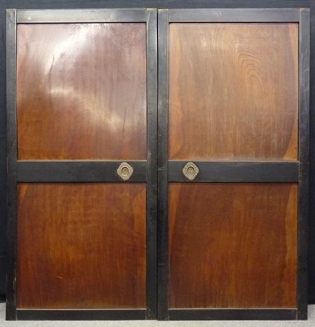 □古城□重厚な欅板木製 帯戸 板戸 4枚   建具_画像6