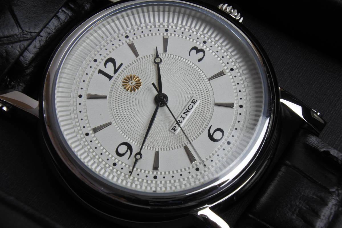 極稀少100点限定品!  平成天皇陛下御在位30周年記念  高級紳士自動巻腕時計 『銀座村松時計店』謹製 未使用品 皇室コレクション_画像5