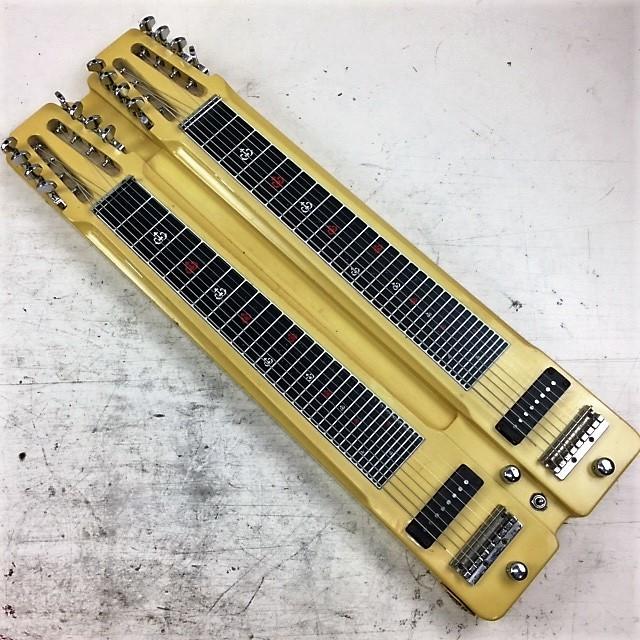 カノウプス Canopus ダブルネック 8弦スチールギター◆ハードケース付