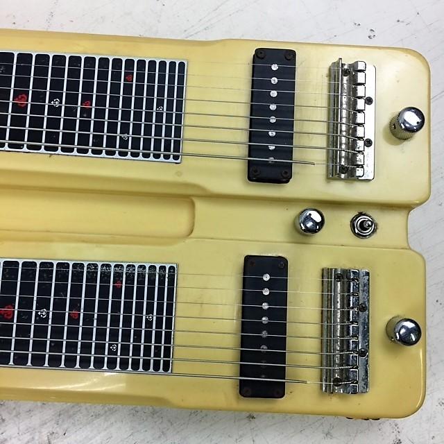 カノウプス Canopus ダブルネック 8弦スチールギター◆ハードケース付_画像2