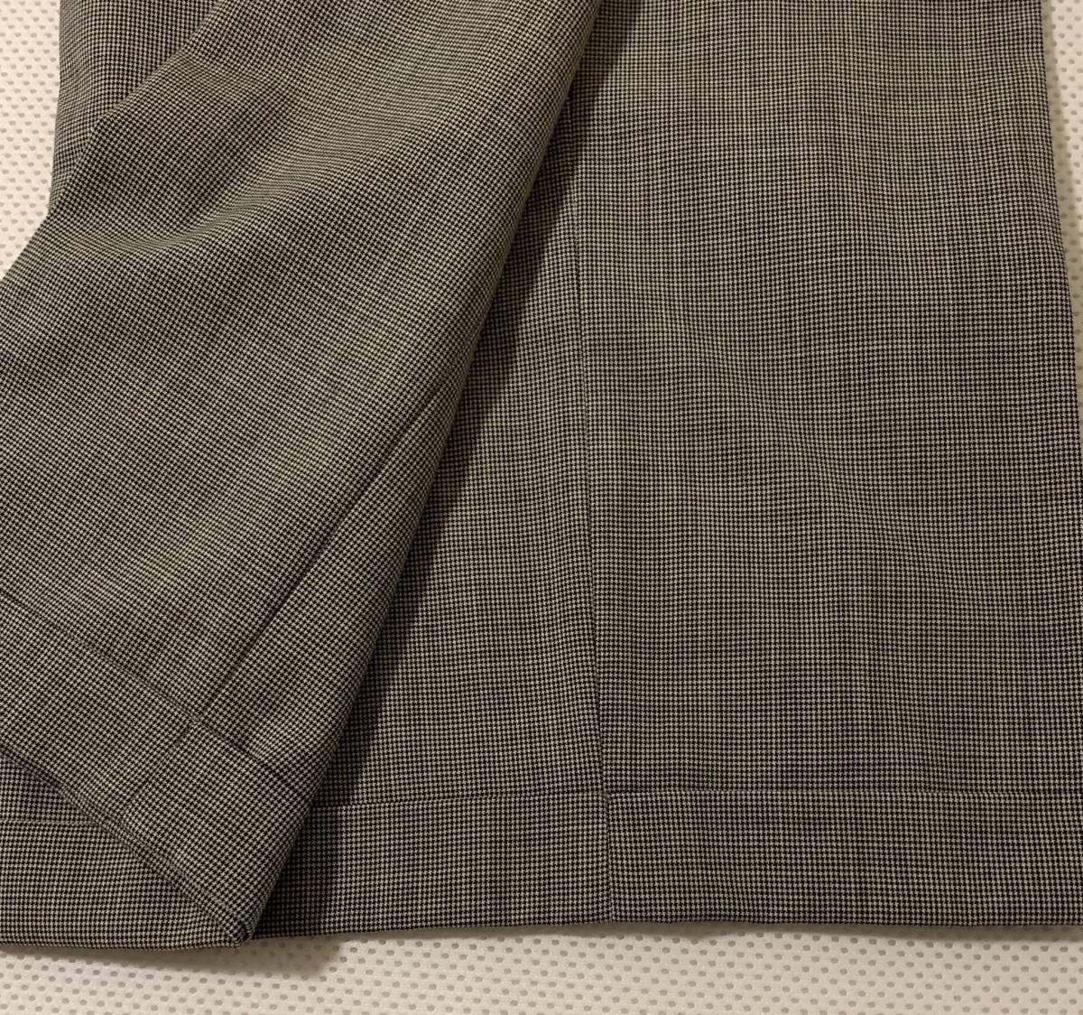 ラルフローレン ワイドパンツ 15号 裾ダブル グレンチェック 大きい_画像2