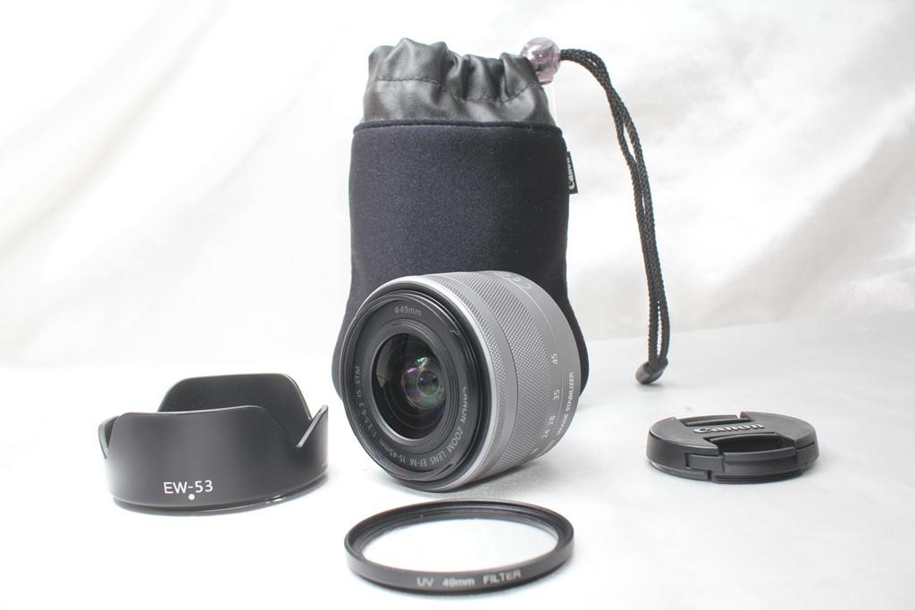 ★【新品級】Canon EF-M15-45mm F3.5-6.3 IS STM ★手ブレ防止付きミラーレス用レンズ 小さくて超軽いからどこでも持っていける!