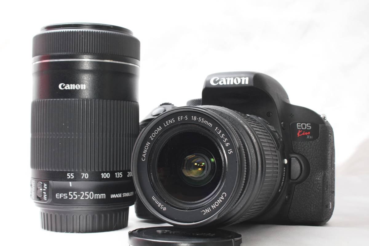 ★【新品級 手ブレ防止&望遠 ダブルレンズ スターターセット】 Canon EOS Kiss X9i ★EF-S18-55 IS EF-S55-250 STM ★220EX 純正ストロボ付_画像2