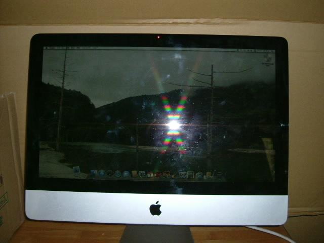 アップル製 Mac 一体型(白)&キーボード マウス 使用確認済_画像4