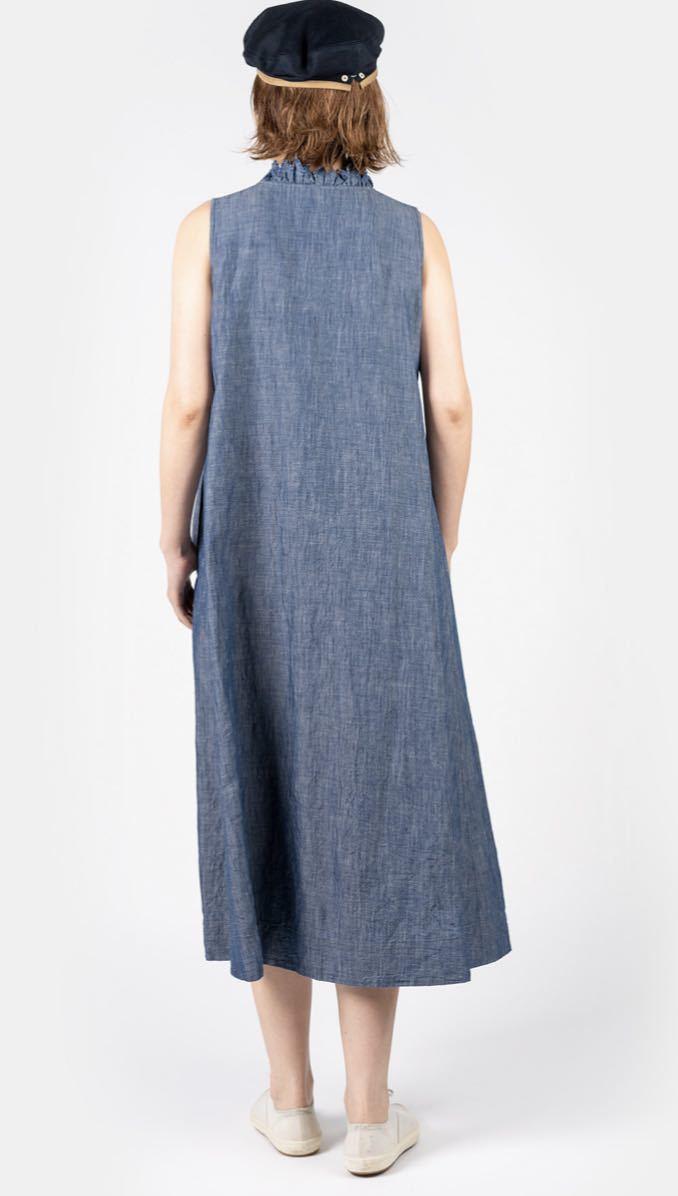 新品★今季45R コットンリネンのノースリーブドレス ワンピース サイズ0_画像8