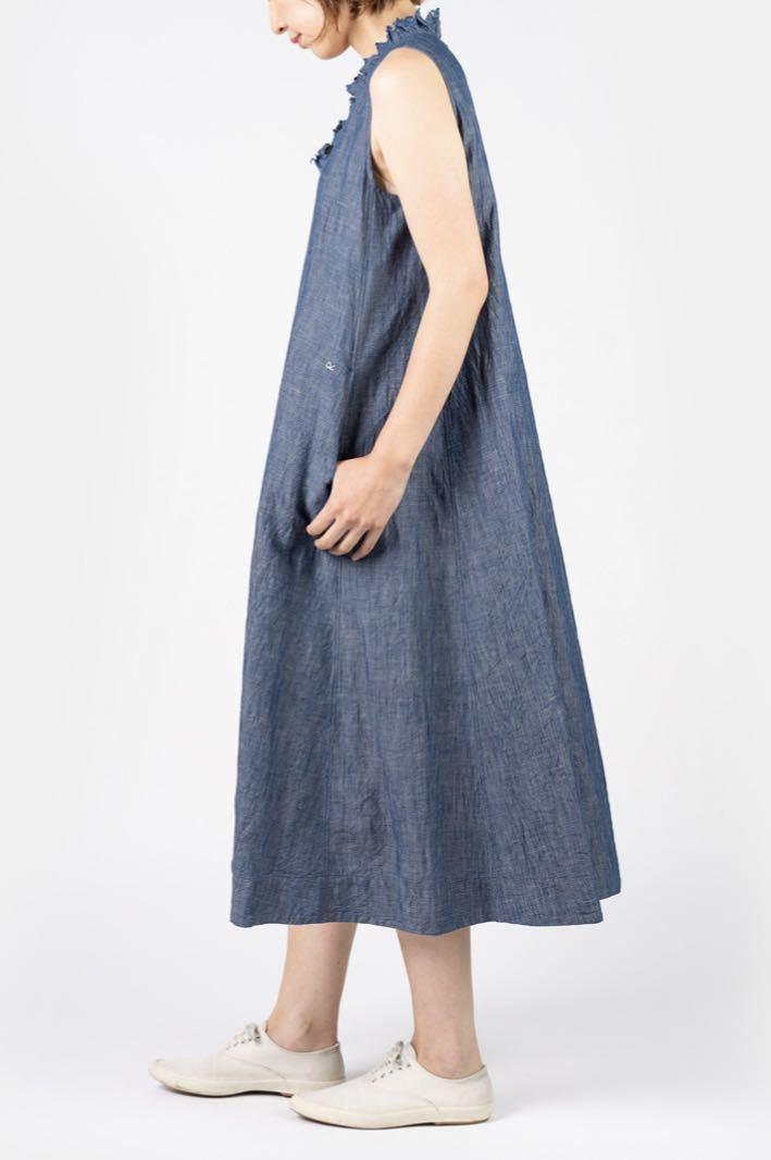 新品★今季45R コットンリネンのノースリーブドレス ワンピース サイズ0_画像4