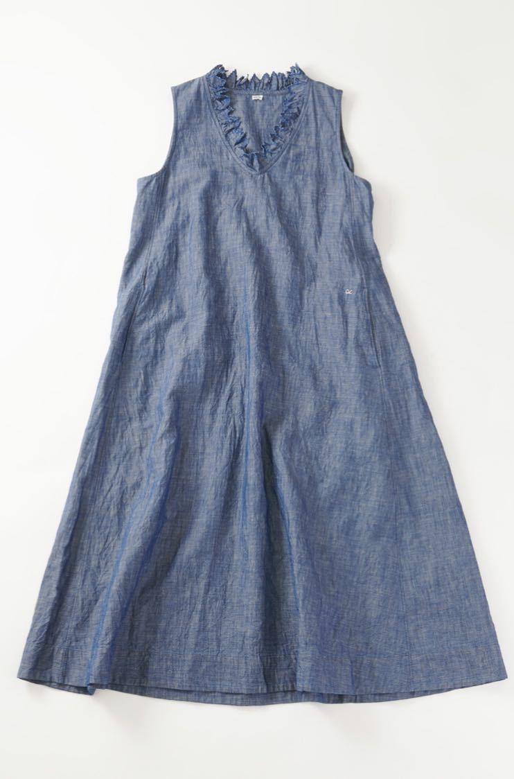新品★今季45R コットンリネンのノースリーブドレス ワンピース サイズ0