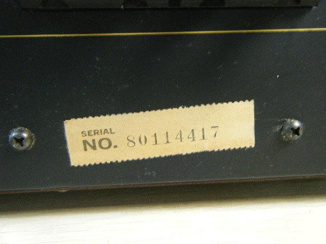 3さ4●ONKYO オンキョー Integra A-819 ステレオプリメインアンプ【ジャンク品 通電OK!】 _画像4