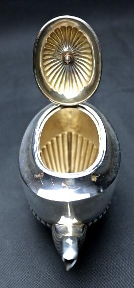 STARING SILVER スターリングシルバー 925 純銀ティーサービスセット(ティーポット・シュガー・ミルクカップセット) _画像3