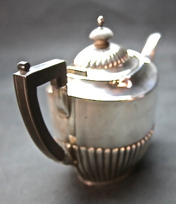STARING SILVER スターリングシルバー 925 純銀ティーサービスセット(ティーポット・シュガー・ミルクカップセット) _画像10