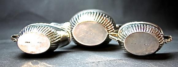 STARING SILVER スターリングシルバー 925 純銀ティーサービスセット(ティーポット・シュガー・ミルクカップセット) _画像2