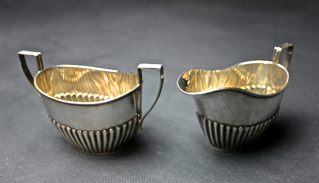 STARING SILVER スターリングシルバー 925 純銀ティーサービスセット(ティーポット・シュガー・ミルクカップセット) _画像5