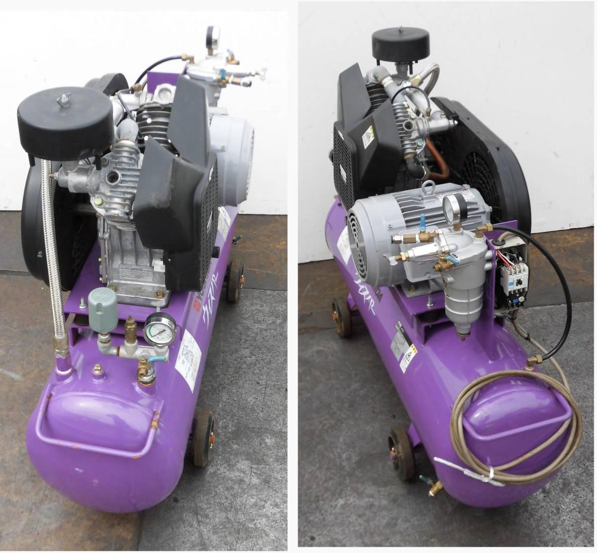 ほ レシプロコンプレッサー 吉田/アネスト岩田 ウィスパー Y32 L22P-10 50Hz 2.2KW 静音型 圧力調整器付 空気圧縮機 3馬力_画像5