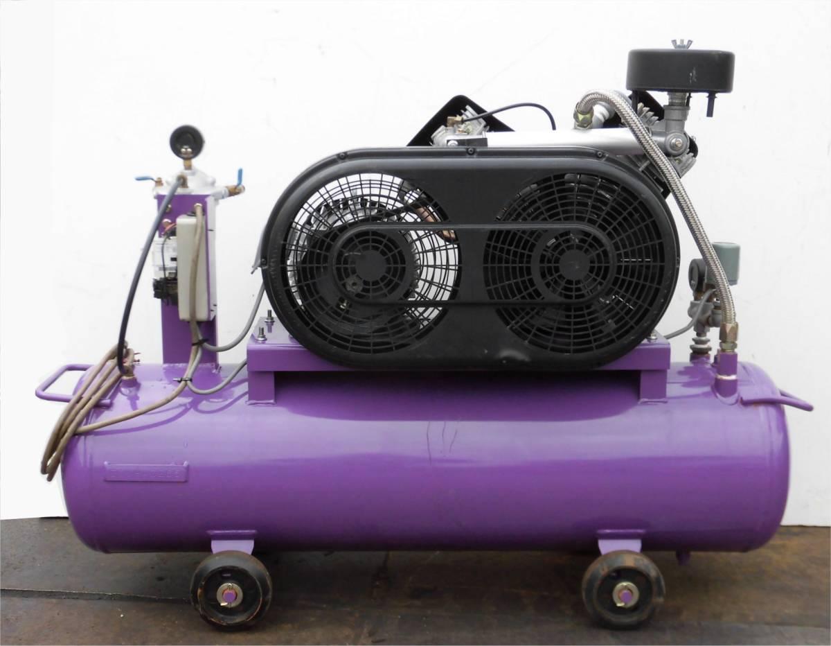 ほ レシプロコンプレッサー 吉田/アネスト岩田 ウィスパー Y32 L22P-10 50Hz 2.2KW 静音型 圧力調整器付 空気圧縮機 3馬力_画像4
