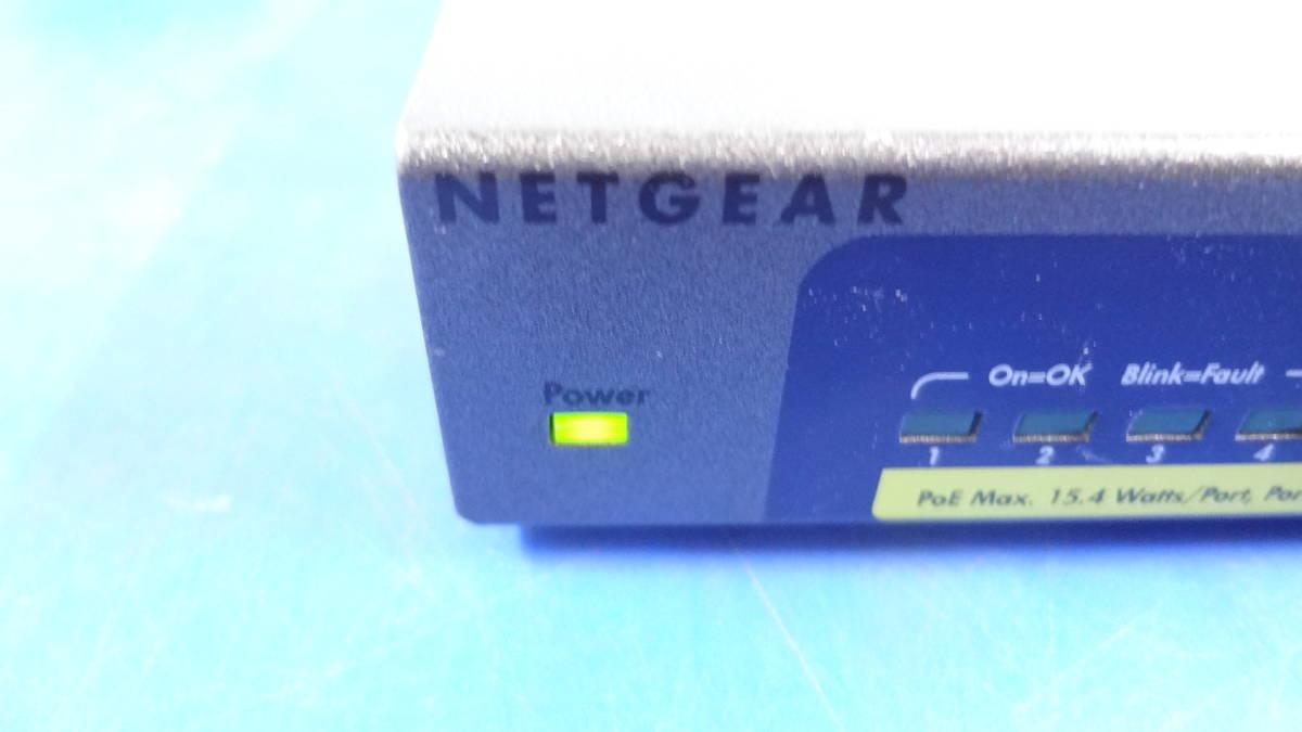 激安1円スタート NETGEAR スイッチングハブ GS108P ギガビット8ポート PoE4ポート 中古動作品_画像4