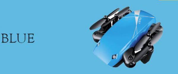 0148ドローン トイドローン Drone ラジコン マルチコプター クアッドコプター 無人機 空撮 カメラ付き マルチコプター 航空機 ブルー_画像2