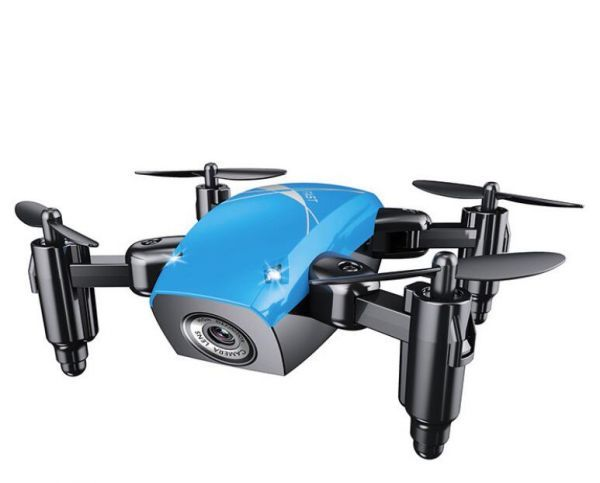 0148ドローン トイドローン Drone ラジコン マルチコプター クアッドコプター 無人機 空撮 カメラ付き マルチコプター 航空機 ブルー