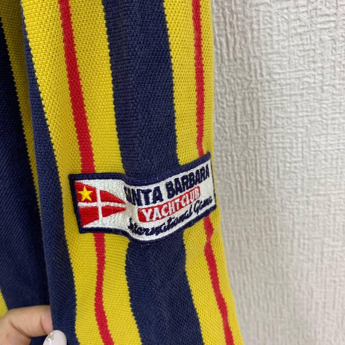 ストライプシャツ サンタバーバラ ヨットクラブ サイズL