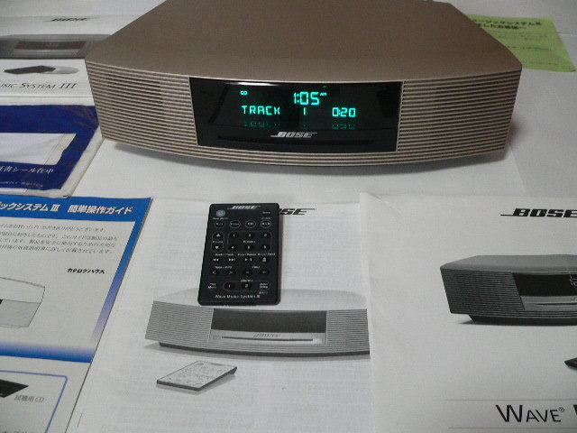 BOSE Wave Music System Ⅲ  新色パ-ルゴ-ルド 動作良好  リミテッドエディション 美品