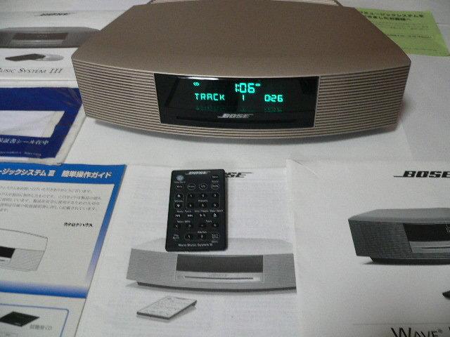 BOSE Wave Music System Ⅲ  新色パ-ルゴ-ルド 動作良好  リミテッドエディション 美品_画像2
