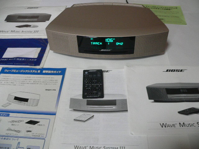 BOSE Wave Music System Ⅲ  新色パ-ルゴ-ルド 動作良好  リミテッドエディション 美品_画像4