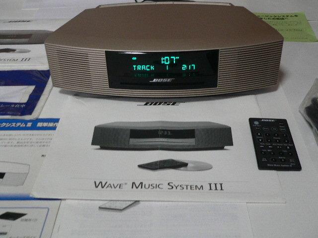 BOSE Wave Music System Ⅲ  新色パ-ルゴ-ルド 動作良好  リミテッドエディション 美品_画像7