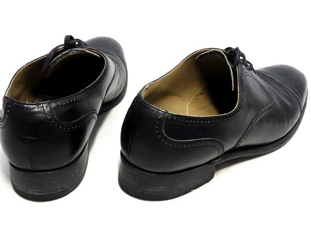 即決★REGAL★26cm EE レザービジネスシューズ リーガル 黒 ブラック 本革 ストレートチップ 本皮 ドレスシューズ 革靴 メダリオン_画像2