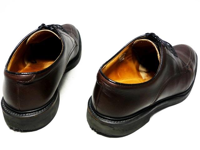即決★REGAL★27cm レザービジネスシューズ リーガル メンズ こげ茶 ブラウン 本革 ドレス 本皮 ヒール 革靴 Uチップ レースアップ_画像2