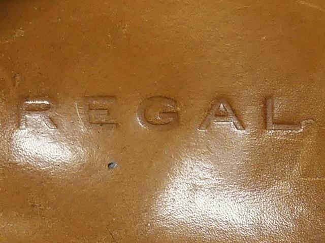 即決★REGAL★27cm レザービジネスシューズ リーガル メンズ こげ茶 ブラウン 本革 ドレス 本皮 ヒール 革靴 Uチップ レースアップ_画像6