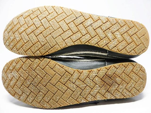 即決★whoop'EE'★26cm レザーレースアップシューズ フーピー メンズ 黒 ブラック 本革 スニーカー 本皮 メダリオン 革靴_画像5