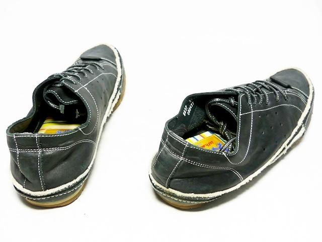 即決★whoop'EE'★26cm レザーレースアップシューズ フーピー メンズ 黒 ブラック 本革 スニーカー 本皮 メダリオン 革靴_画像2