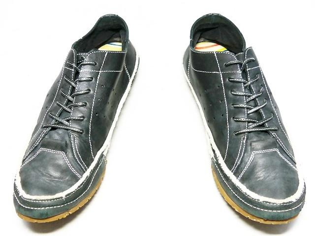 即決★whoop'EE'★26cm レザーレースアップシューズ フーピー メンズ 黒 ブラック 本革 スニーカー 本皮 メダリオン 革靴_画像4