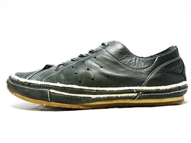 即決★whoop'EE'★26cm レザーレースアップシューズ フーピー メンズ 黒 ブラック 本革 スニーカー 本皮 メダリオン 革靴_画像3