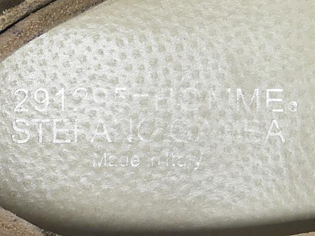 即決★イタリア製 291295 HOMME★25.5cm レザースリッポン 291295オム メンズ 41 迷彩 カモフラ 本革 ドライビングシューズ 本皮 革靴_画像6