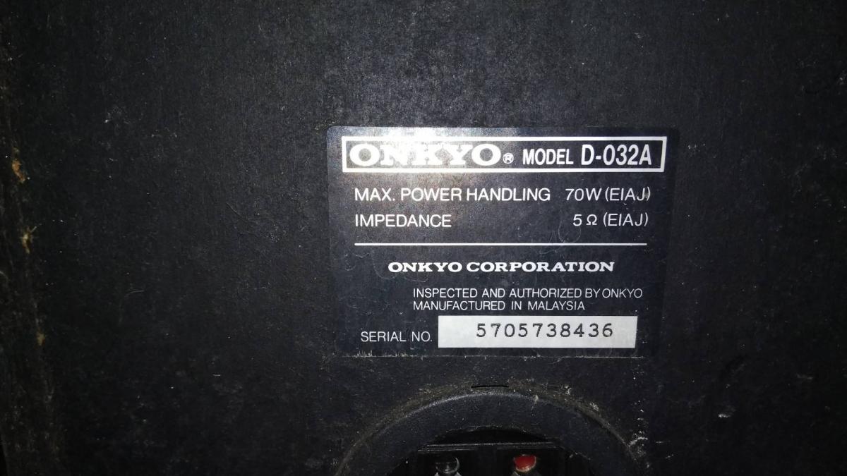 【ONKYO オンキョーD-032A 高音質スピーカーペア 音響機器 オーディオ】現状品 最落なし完全売り切り ジャンク品_画像3