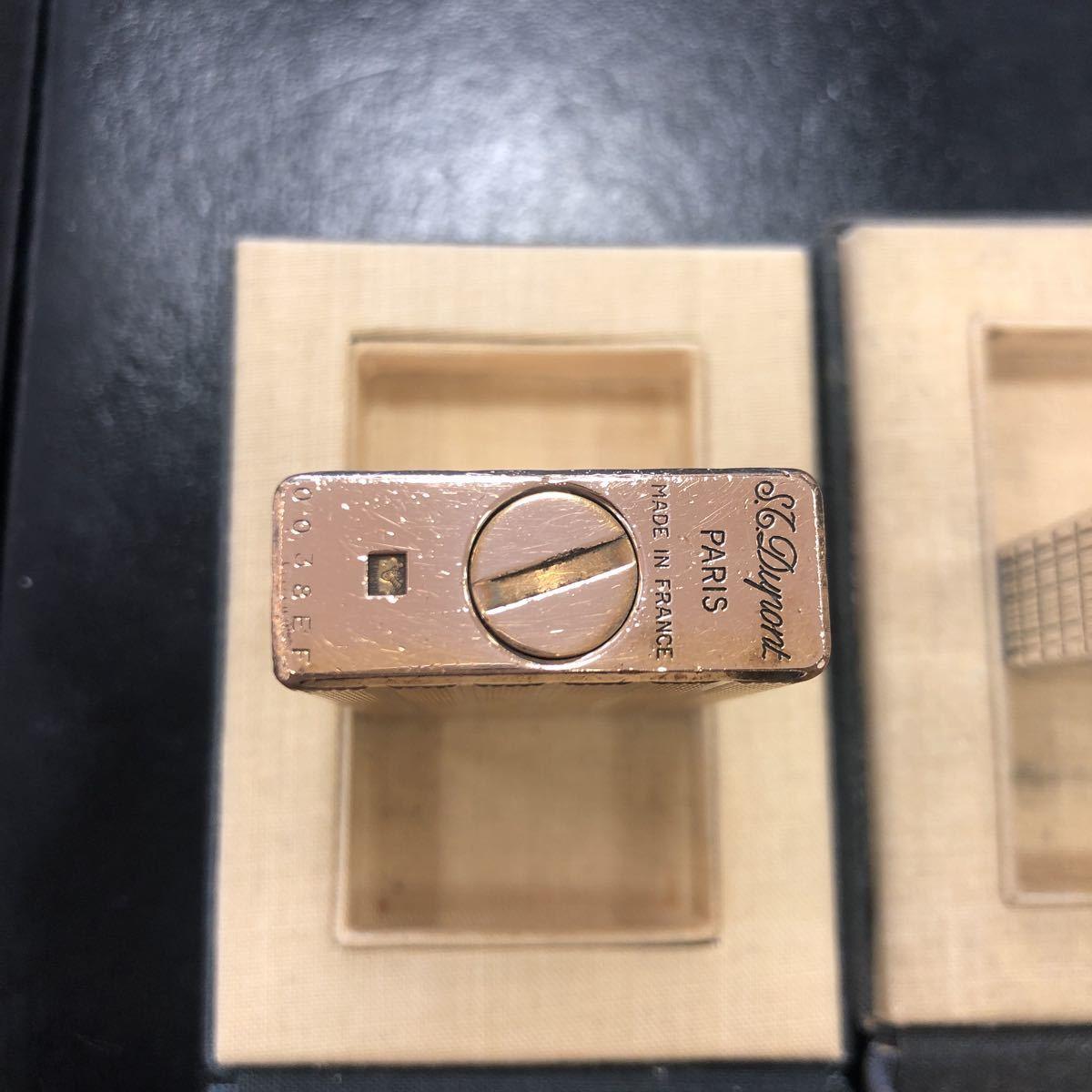 【ジャンク品】Dupont デュポン ガスライター シルバー色 ゴールド色 計2点 箱付き ギャラ 取説_画像8
